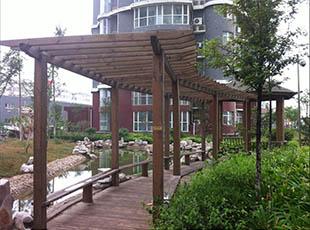 防腐木花架南阳园林绿化,南阳道路交通设施,南阳园林绿化工程,南阳园林景观设计,南阳道路绿化,河南美达智能科技有限公司