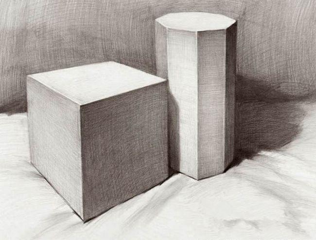 素描石膏几何体结构-素描石膏几何体步骤_素描石膏体